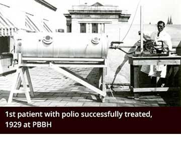Polio patient